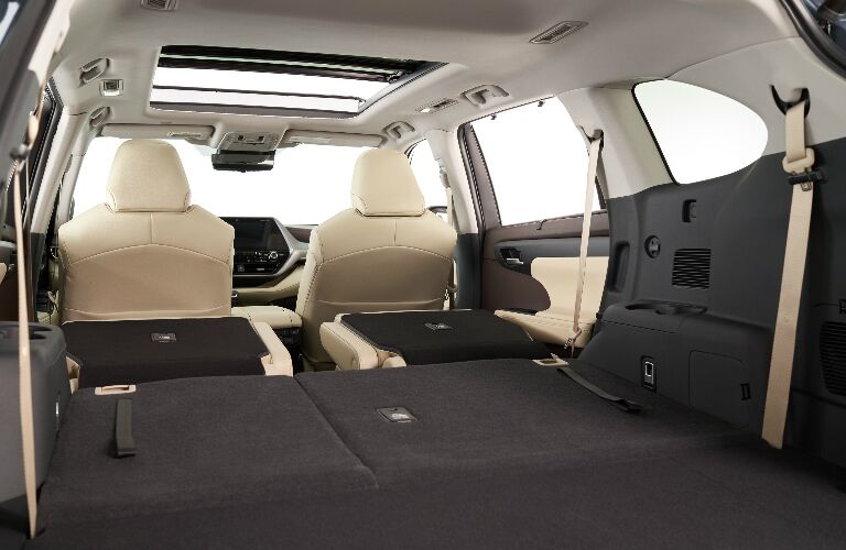 Cargo area in 2020 Toyota Highlander
