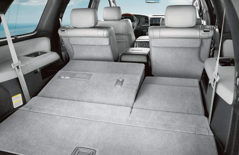 Grey cargo area in the cabin of a 2020 Toyota Sequoia