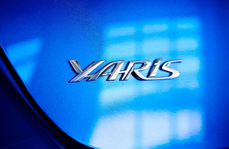 Yaris badge on blue 2020 Toyota Yaris Hatchback