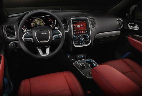 2017 dodge durango interior dashboard touchscreen steering wheel leather seats