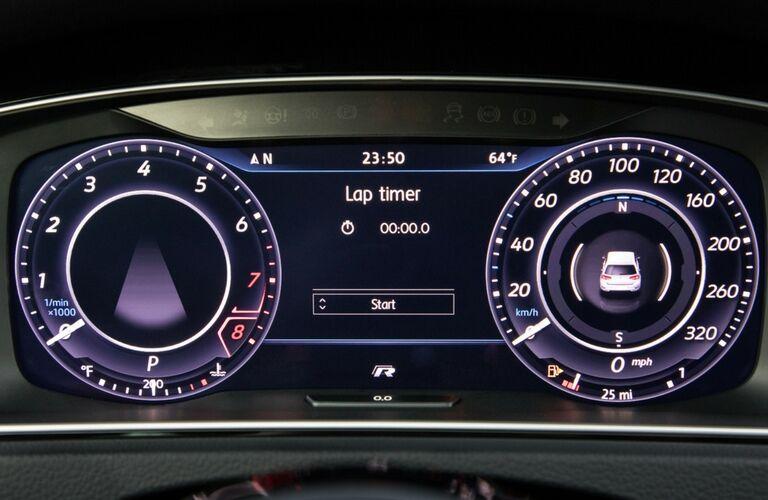 VW Digital Cockpit in the 2018 VW Golf R