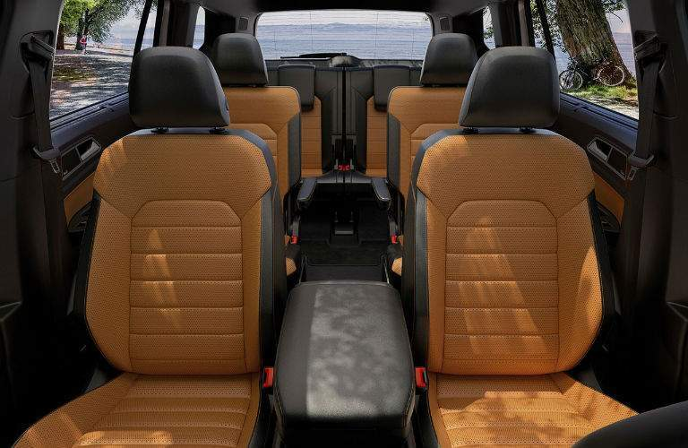 2018 Volkswagen Atlas black and tan interior