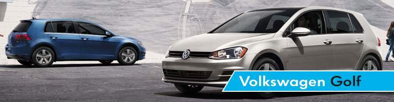 Blue and Silver 2018 Volkswagen Golf models