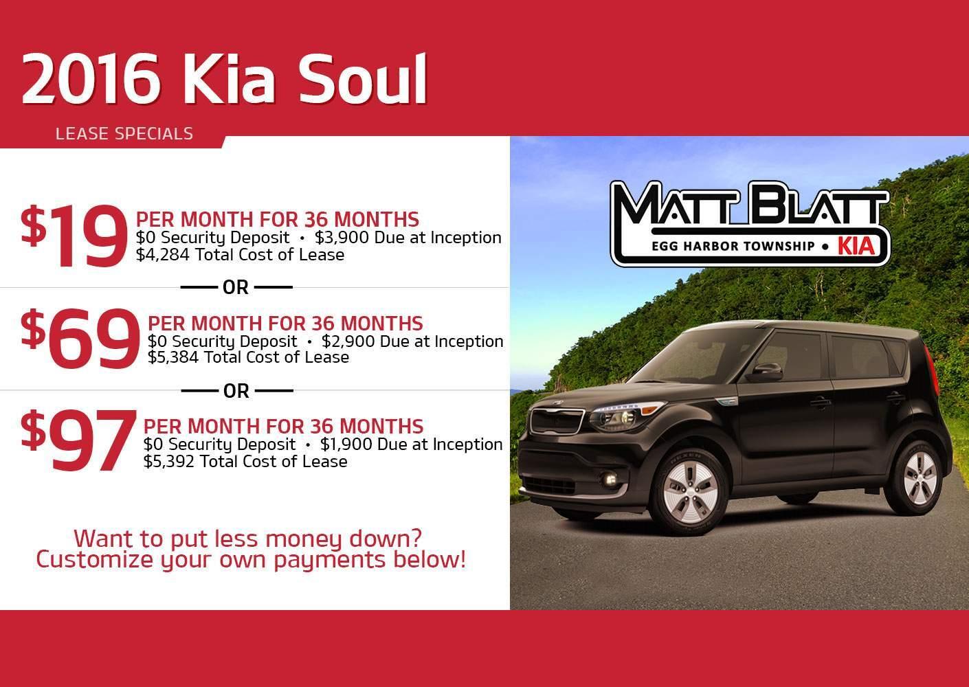 2016 Kia Soul Ev Lease Offers