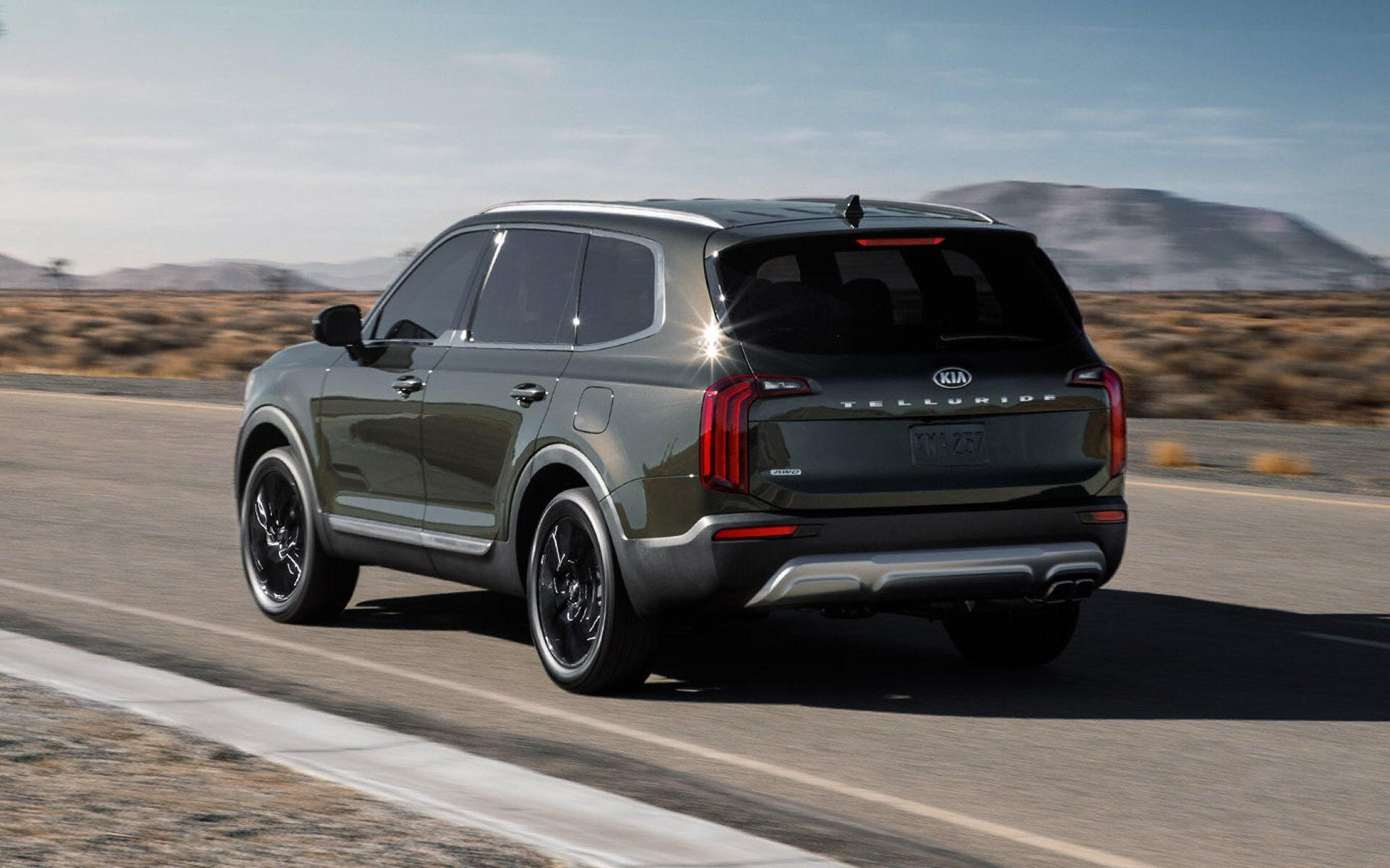Rear view of Kia Telluride