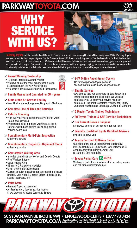 Englewood Cliffs New Jersey Toyota Dealership Parkway Toyota - Toyota dealership hours