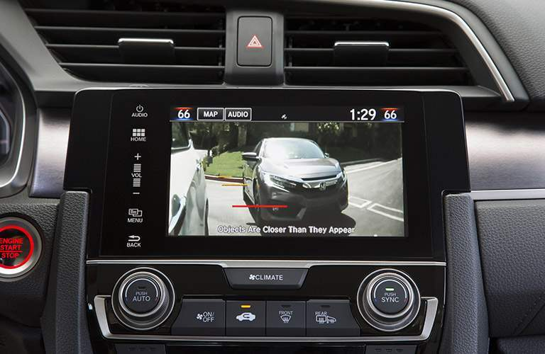 2017 honda civic sedan with a rearview camera