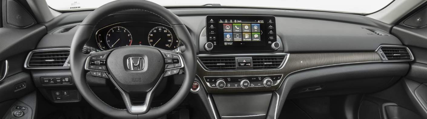 2018 Honda Accord dashboard and instrument cluster showing infotainment touchscreen