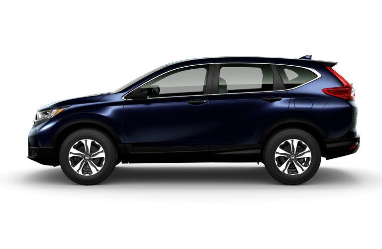 side view of blue HOnda CR-V