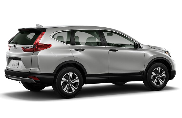 side view of silver Honda CR-V