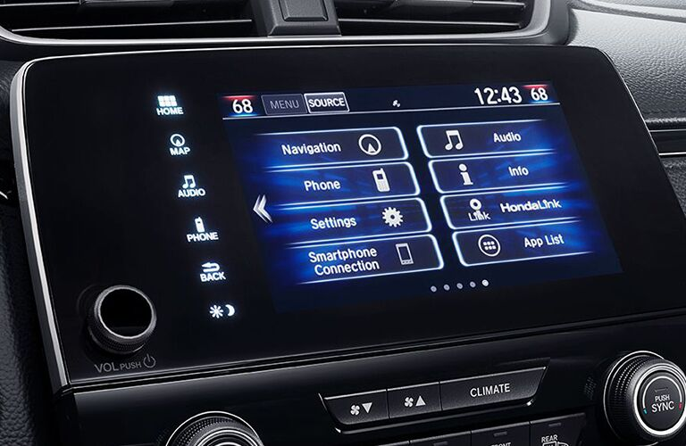 Honda CR-V touch screen display