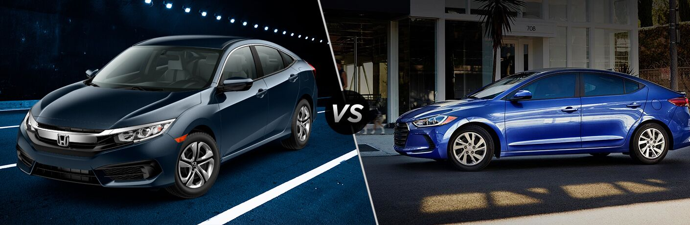 2018 Honda Civic Sedan vs 2018 Hyundai Elantra