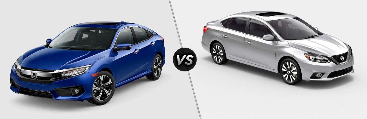 2018 Honda Civic Sedan vs 2018 Nissan Sentra