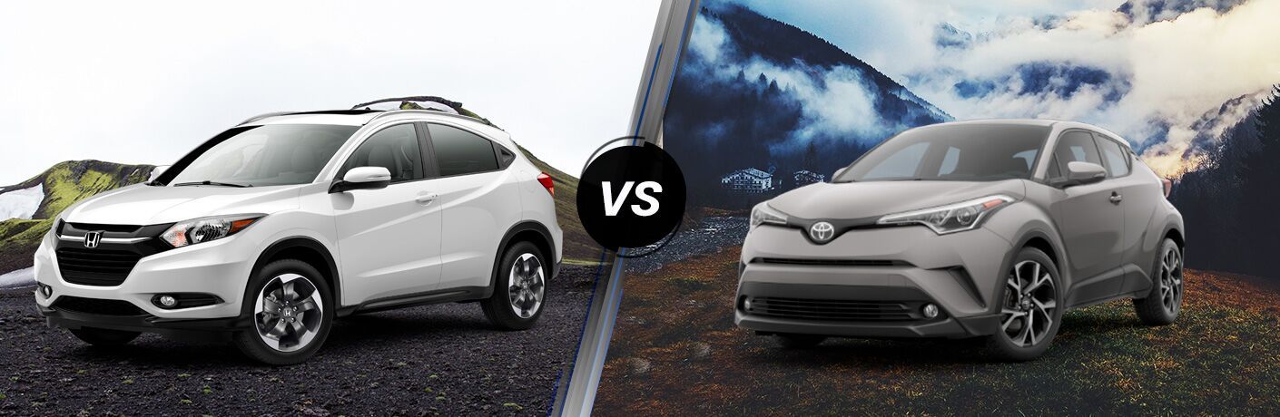 image of 2018 Honda HR-V vs the 2018 Toyota C-HR