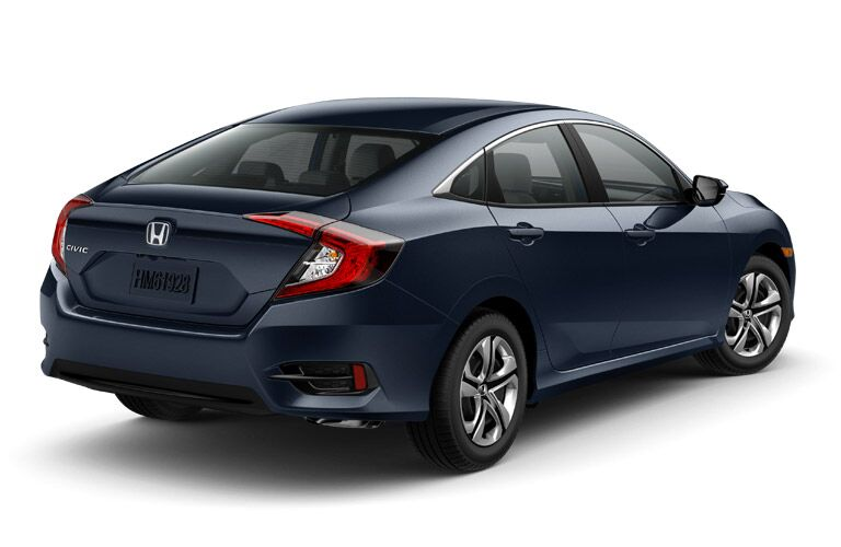 rear view of blue honda civic