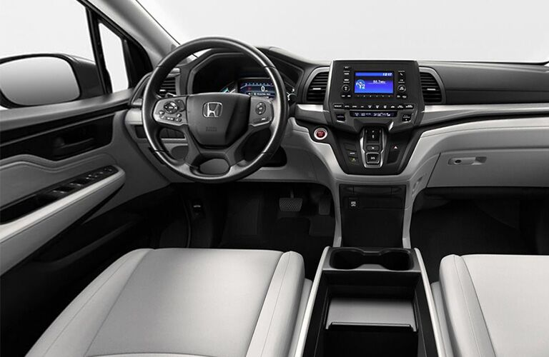 2019 honda odyssey steering wheel and dashboard