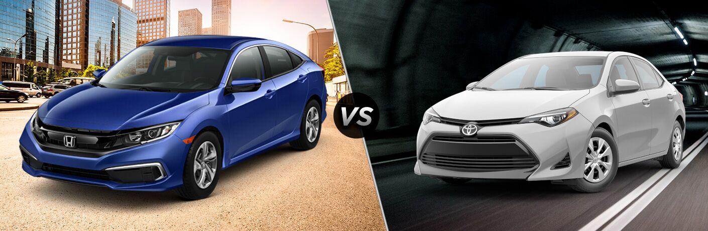 2019 Honda Civic Sedan Vs 2019 Toyota Corolla