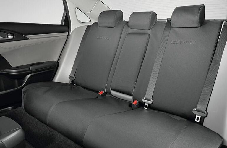 rear seats of the honda civic hatchback
