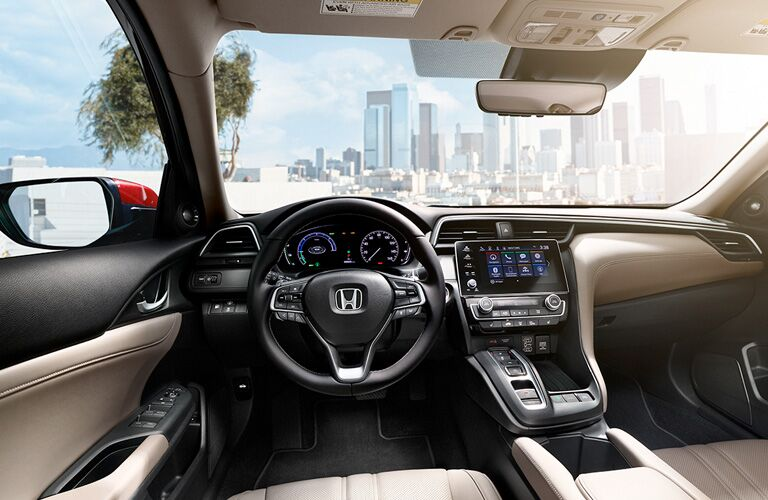 honda insight dashboard and windshield