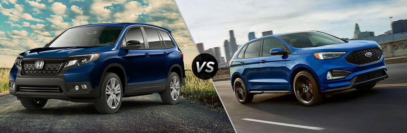 2019 Honda Passport vs 2019 Ford Edge