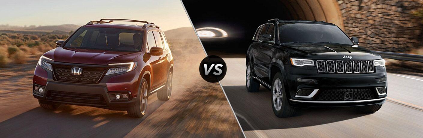 2019 Honda Passport vs 2019 Jeep Grand Cherokee