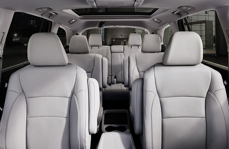 interior view of all rows of seating in the Honda Pilot