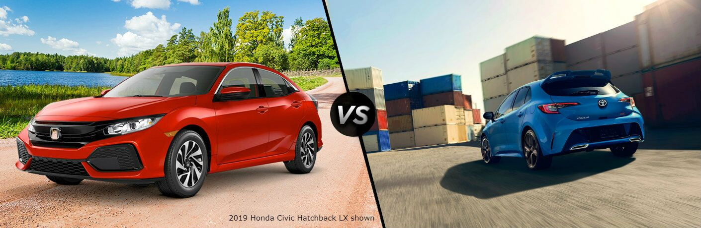 2019 Honda Civic Hatchback vs 2019 Toyota Corolla Hatchback