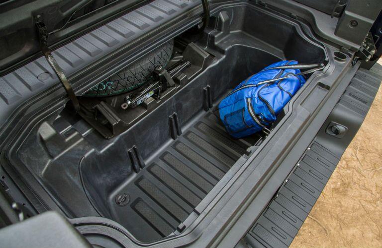 built-in truck bed cargo trunk on the Honda Ridgeline