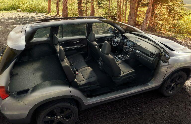 2020 Honda Passport Elite Interior Cabin Seating & Dashboard Cutaway from Exterior