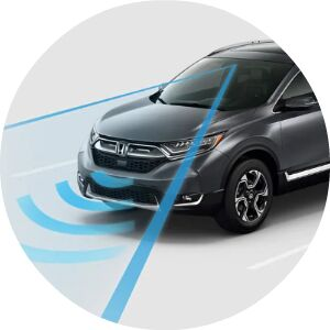radar detection lines on the honda cr-v
