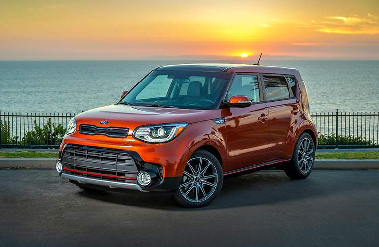 2019 Kia Soul by the ocean