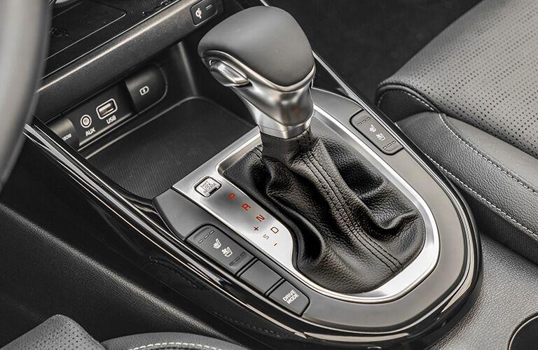 2020 Kia Forte shifter and center console