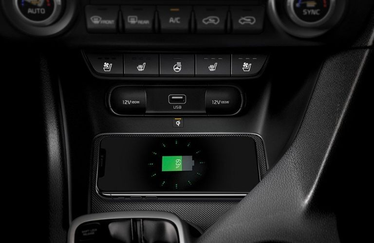 2020 Kia Sportage wireless charging pad