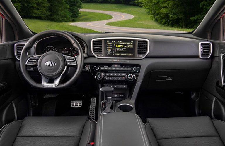 2020 Kia Sportage dashboard and steering wheel
