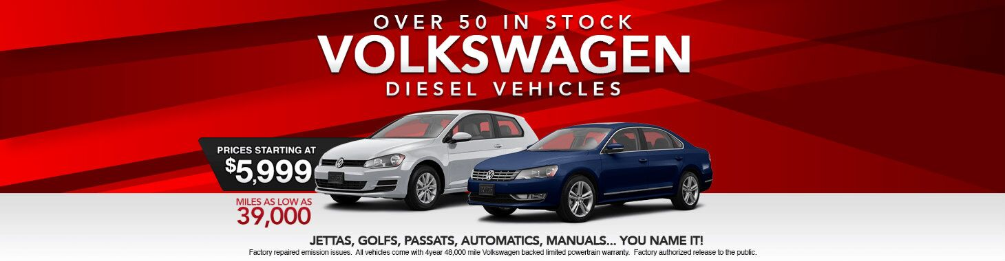 Kia St. Cloud Used Volkswagen Diesel model stock sales banner