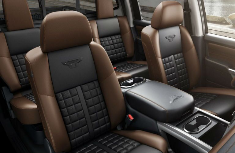 Overhead view of the two rows of the available seating in the 2019 Nissan TITAN