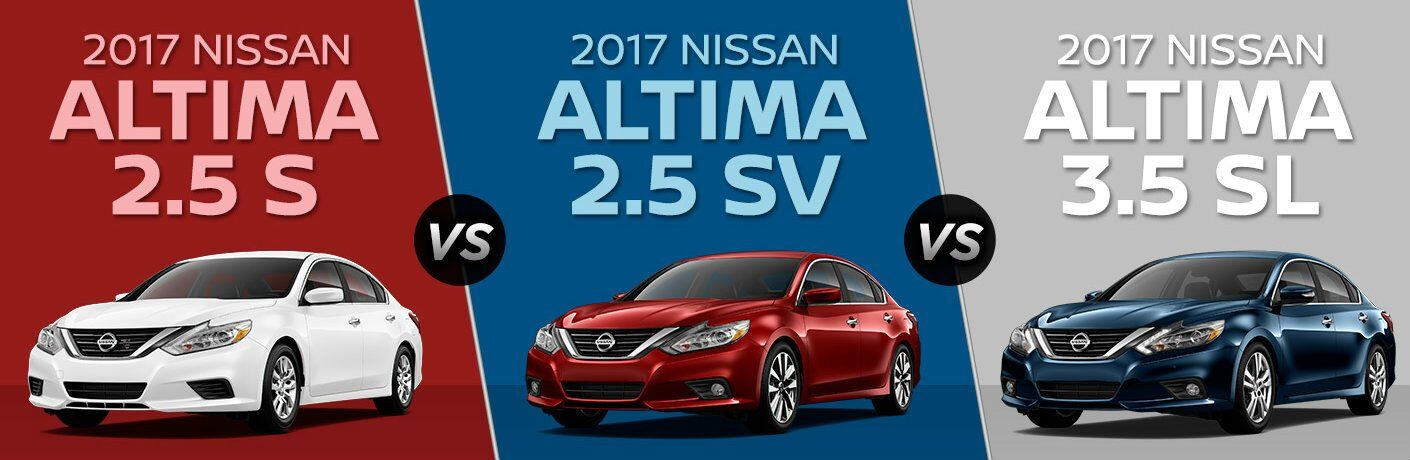 2017 nissan altima 2 5 s vs 2 5 sv vs 3 5 sl. Black Bedroom Furniture Sets. Home Design Ideas