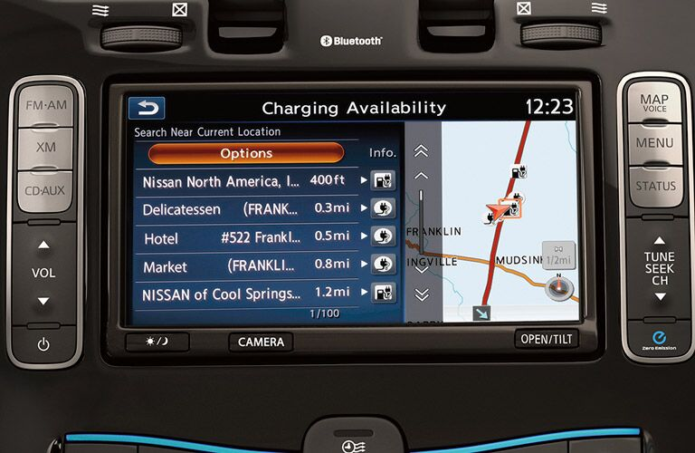 2017 Nissan LEAF charging availability
