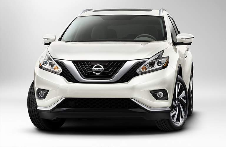 White 2018 Nissan Murano in front of white background