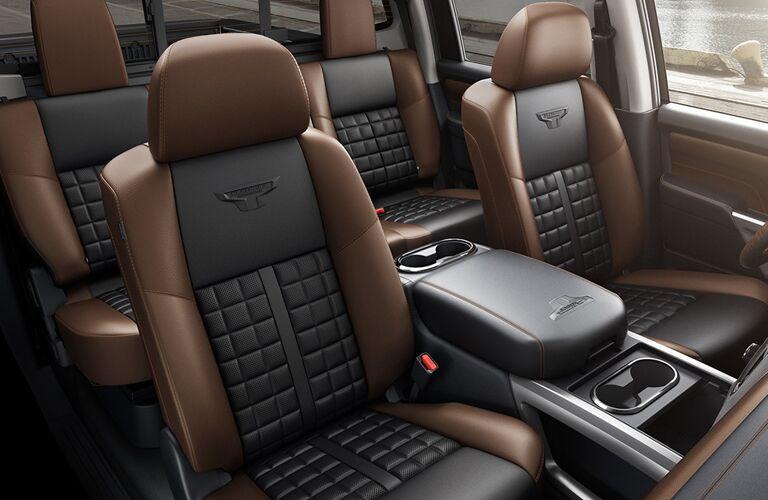 2018 Nissan Titan seat view.