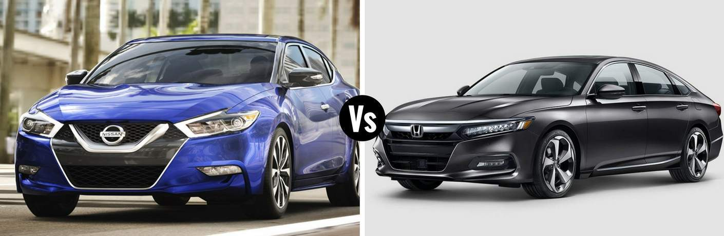 2018 Nissan Maxima vs 2018 Honda Accord