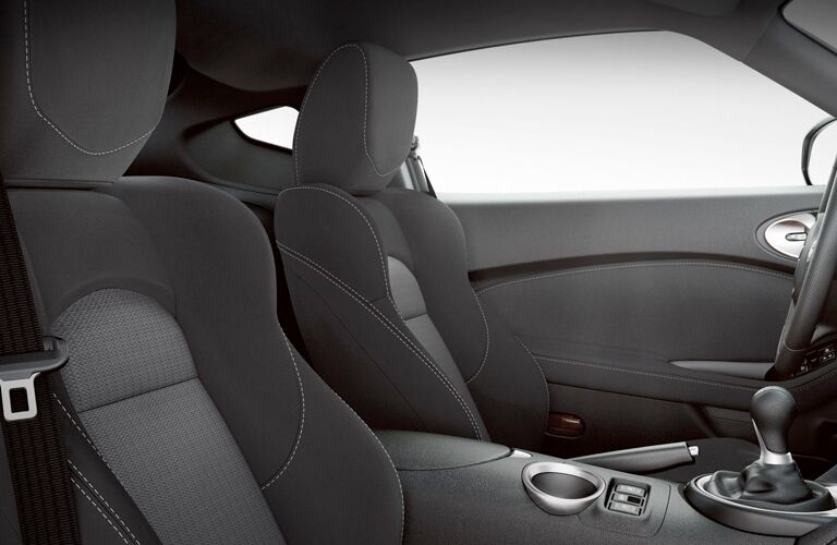 Side view of the front seats in the 2019 Nissan 370Z Coupe