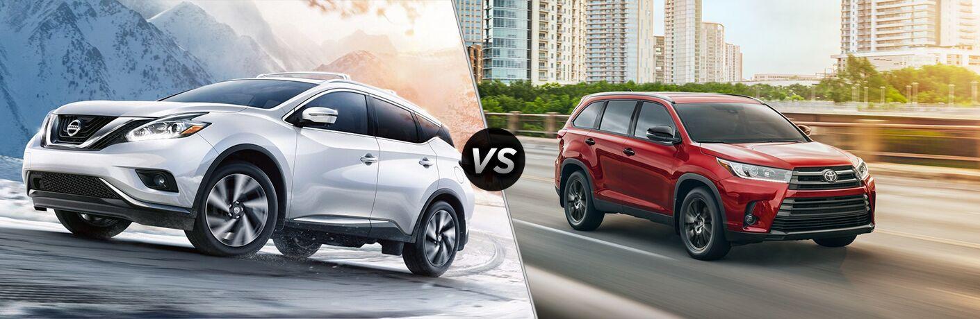 2019 Nissan Murano vs 2019 Toyota Highlander