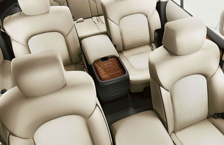 Overhead view of the front seats in the 2019 Nissan Armada