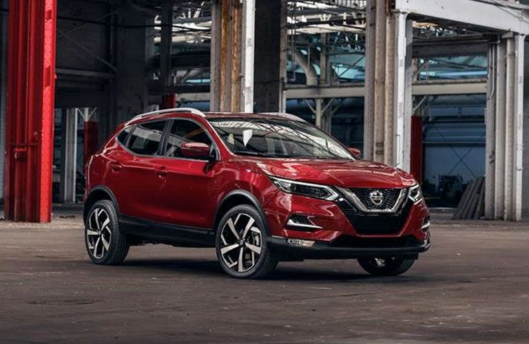 2020 Nissan Rogue Sport parked in a warehouse