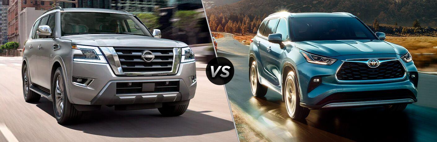 2021 Nissan Armada vs 2021 Toyota Highlander