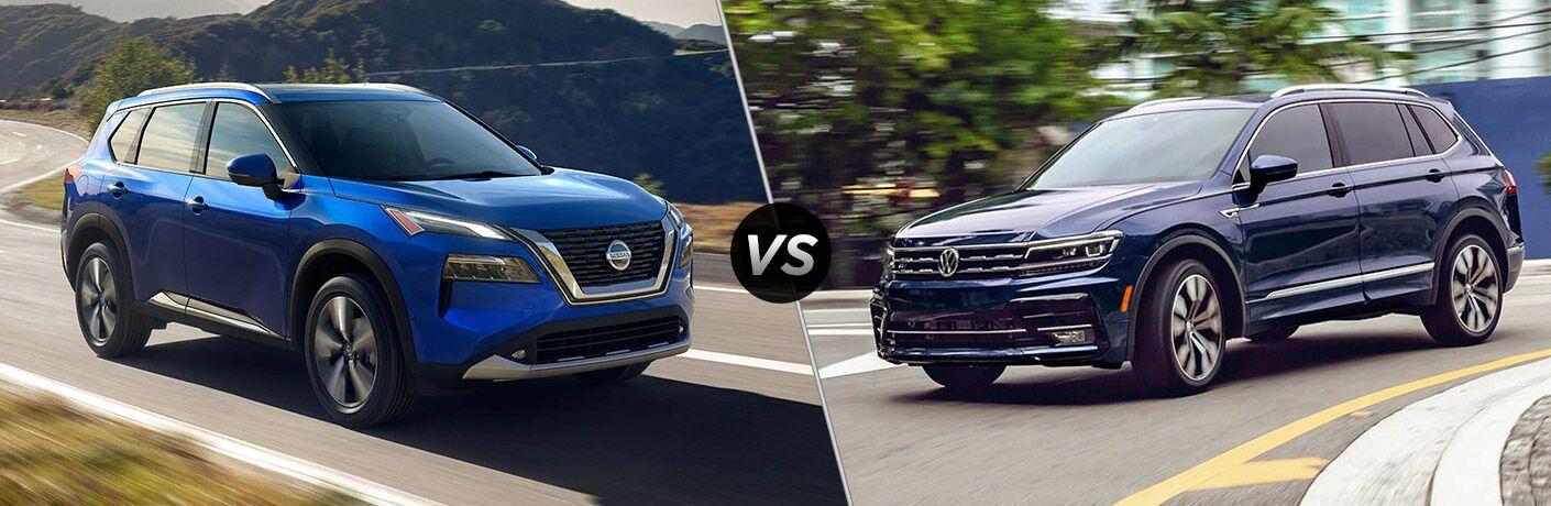 2021 Nissan Rogue vs 2021 Volkswagen Tiguan