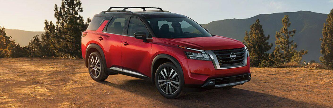 2022 Nissan Pathfinder parked off-road