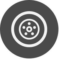 Tire icon in gray