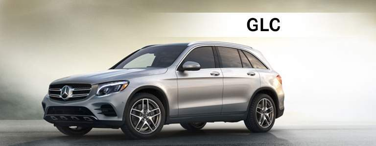 Mercedes-Benz GLC in silver paint color with GLC text displayed